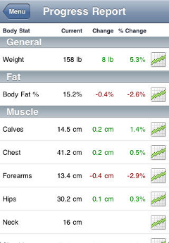 Screenshot - Track body measurements