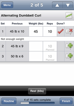 Screenshot - Log your workouts